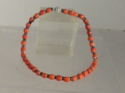 Antique Vintage Chinese Undyed Natural Coral Necklace 53 Grams Beads