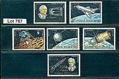 Lot 767..Romania..6 MNH 1982 Space Stamps