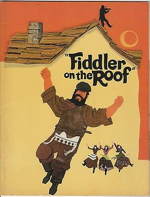 1971 Fiddler On The Roof Program Classic Play Theatre Original Vintage