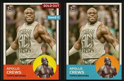 Topps WWE Slam Trader - Archives - Apollo Crews Red & Blue