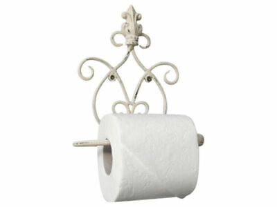 Shabby Chic Style Antique White Toilet Roll Holder Bathroom Accessory