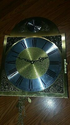 """Tempus Fugit Grandfather Clock without box size 14.75"""" height, 11"""" wide."""