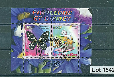 Lot 1542..BENIN..2008 Disney/Butterflies Miniature Sheet