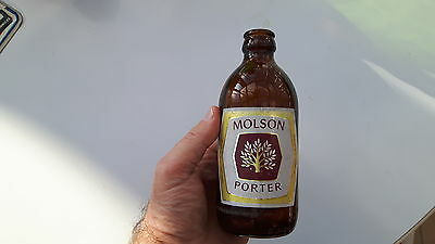 Molson Porter  Stubby Beer Bottle Quebec  Canada