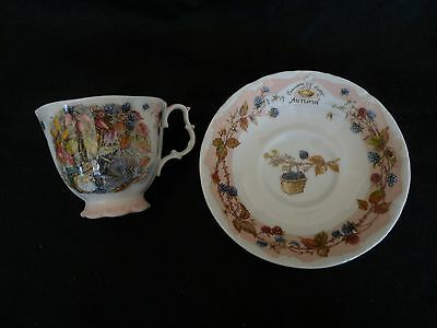 Royal Doulton,Brambly Hedge Series,Autumn Collection,Cup&Saucer and Tea Plate.