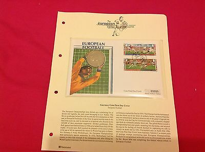 Westminster Guernsey First Day Coin/Stamp Cover Football 1996 £5