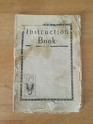 Very Old Sewing Machine Instruction Book Antique