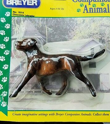 Breyer Chocolate Labrador Companion Animal Plastic Dog in package