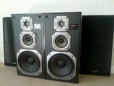 Technics Sb-3670 Vintage  3-Way Loud Speakers - Sound Great