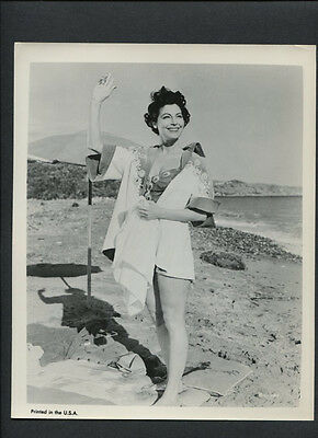 Ava Gardner Candid - On The Beach - Vintage Photo