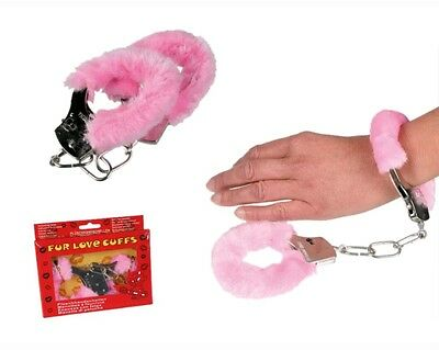 manette pelose rosa, cuffs furry, fur love, idea regalo hot, addio al nubilato
