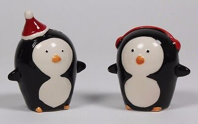 Penguin salt and pepper - Christmas hat and Headphones boxed lovely gift