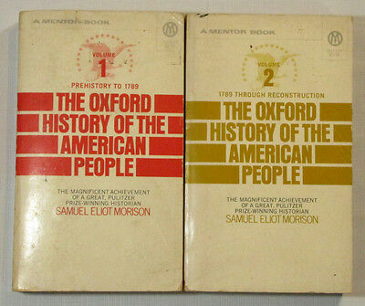 The Oxford History of the American People by Samuel Morison  2 Vol Book Set 1972