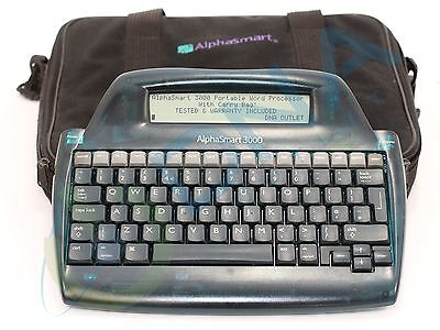 Alphasmart 3000 Portable Word Processor - With Carry Bag - Tested & Warranty