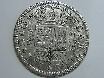 1761 Madrid 2 Real Charles Iii Spanish Spain Silver Coin