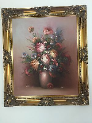Flower Oil Painting With Frame