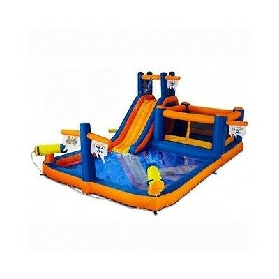 INFLATABLE WATER PARK SLIDES Bounce House Pool Bouncy Kids Toys BACKYARD Outdoor