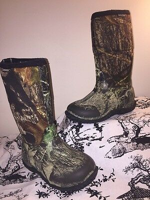 Bogs Classic High Kids Youth Boots Mossy Oak Breakup Camo Size 13 30 Insulate
