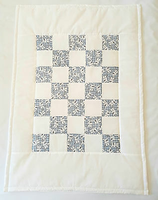HANDMADE NEW Baby Quilt/Playmat QUALITY SHABBY TEDDY design Perfect Gift