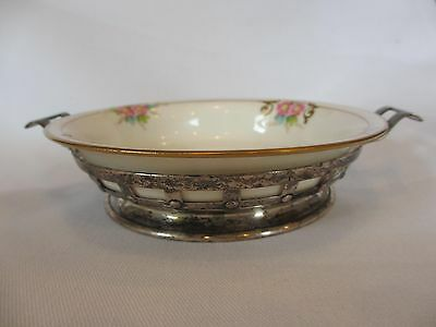 ARTS & CRAFTS Wilcox & Wagoner STERLING SILVER BOWL W/ LOVELY LENOX INSERT LINER