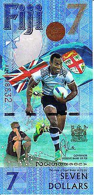 Fiji $7 Dollars New 2017 Olympic Rugby Commemorative Unc Uk Seller