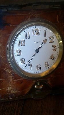 Good Quality Antique 8 Day Travel Clock / Movement. Working