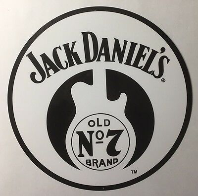 "Jack Daniels Old No 7 Guitar 14"" Metal Sign"