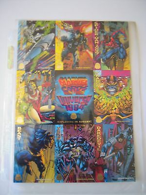 Marvel Universe 5 Uncut Sheet  De 8 Cards 1994 Tbe