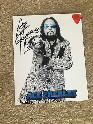 Ace Frehley of KISS KIT! Signed 8X10 2016 Tour with Ace Guitar Pick & Origins CD