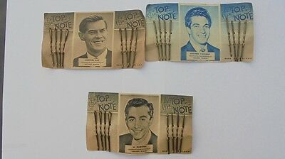 Vintage 1950's TOP NOTE HairGrips featuring Al Martino Frankie Vaughn Johnnie Ra