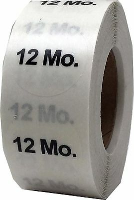 Clear Baby Toddler Clothing Size Stickers, 3/4 Inch Round, 500 Total Labels