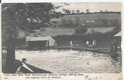Postcard - View from Bath Road Marlborough Wiltshire posted 1903