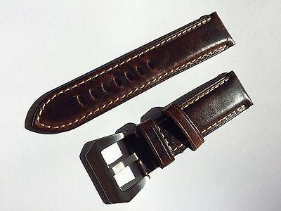 24mm Replacement Soft Leather watch band strap for panerai & 22mm pre v buckle