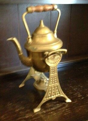 brass kettle and stand