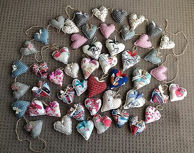 Wholesale Job lot 3 X Heart Garlands And 29 Padded Hearts