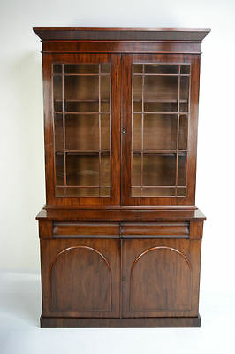 Antique Victorian Mahogany Library Bookcase Circa 1880