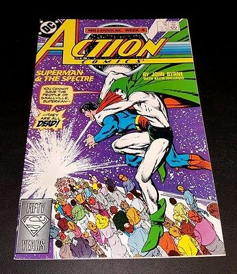 Action Comics #596!!  Byrne & Williams!!  The Spectre!!