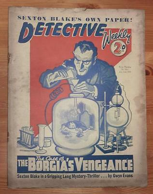 DETECTIVE WEEKLY No 335 22ND JULY 1939 THE CASE OF THE BORGIA'S VENGEANCE, BLAKE