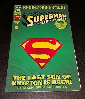 """Action Comics #687!!       """"the Last Son Of Krypton Is Back!"""""""