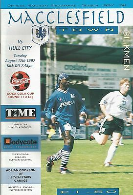Macclesfield Town v Hull City, 12 August 1997, League Cup
