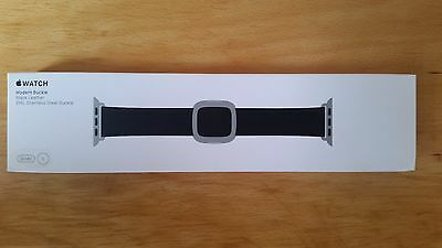 Genuine Apple Watch leather strap 38mm Modern Buckle - Small Black Leather
