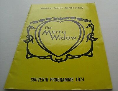 1974 Headlingley Amateur Operatic Society The Merry Widow