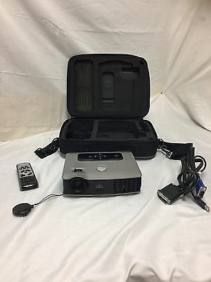 Dell 3400MP Portable Projector With Remote And Protective Case Lamp Needed