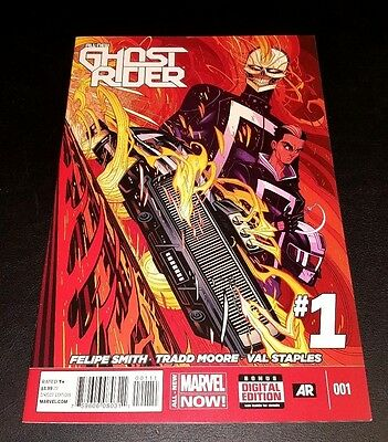 All New Ghost Rider #1!! Nm.  1St App Robbie Reyes!! Marvel's Agents Of Shield!!
