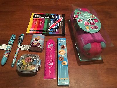 Brand New Smiggle Pals Pencil Case Blossom Duo Tip Markers Scented Pencils Set