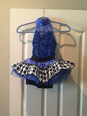 Weissman Girl's  Dance Costume  Ic  Medium Blue Sequin  Style  8703