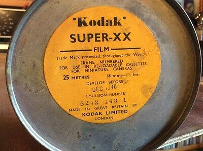 Vintage Kodak 35mm Bulk Film Canister From Pre 1946.