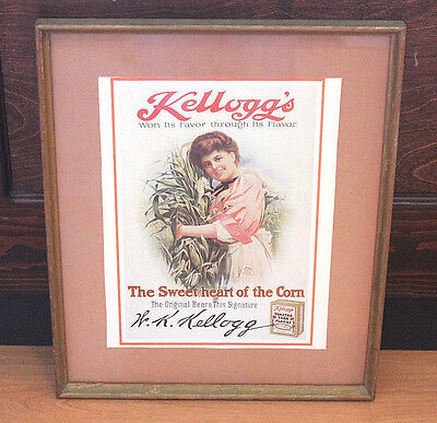 Kellogg's The Sweet Heart of the Corn Ad Print Framed