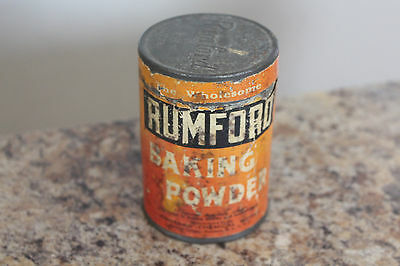 The Wholesome Rumford Baking Powder Can