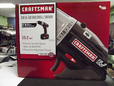 Craftsman C3 19.2-Volt Lithium-Ion 3/8-in. Drill/Driver Kit New